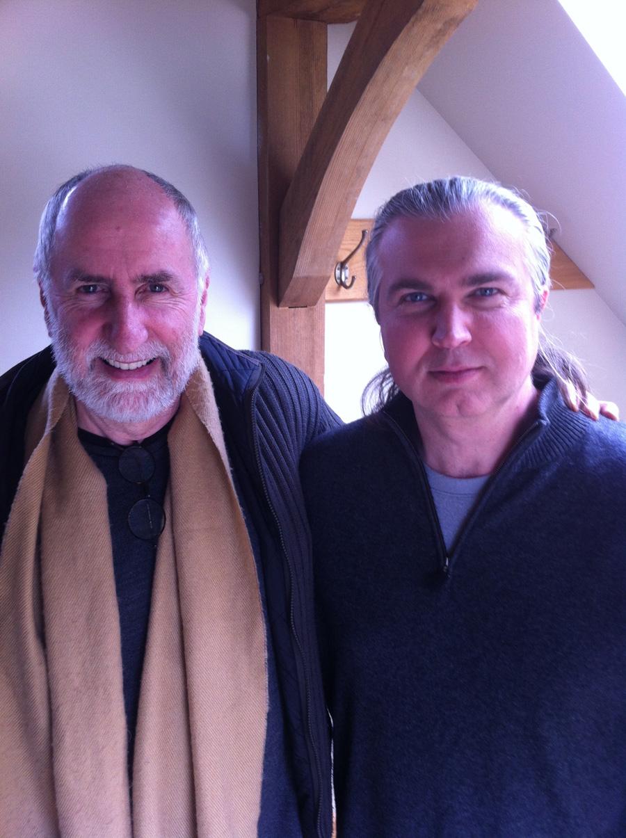 Eugene Friesen (left) with Angelo